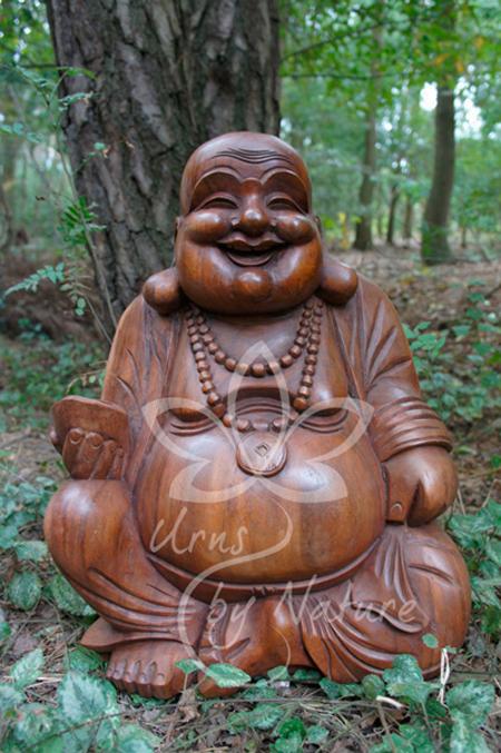 Happy Geluk Boeddha Urn 35 5 Liter As Kan Ook Als Duo Urn Met Liefde Met De Hand Gesneden Uit Hout
